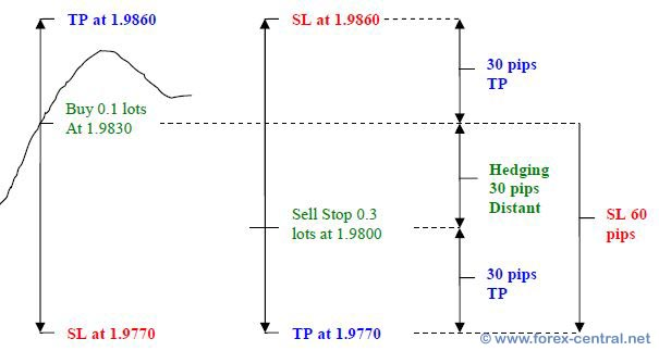 How to hedge forex position